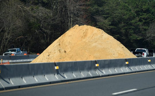 Construction work on Route 55.