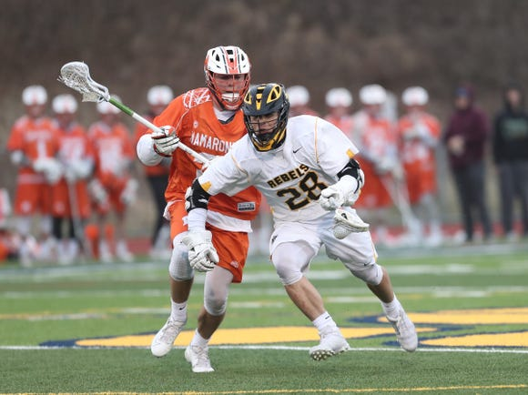 Lakeland/Panas senior T.J. Bryan has 89 face-off wins heading into Tuesday's game against Wappingers.