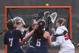 Rye defeated Byram Hills 12-9 in girls lacrosse action at Rye High School April 9, 2019.