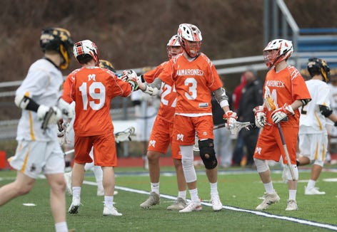 Mamaroneck defeats Lakeland/Panas 10-6 in boys lacrosse action at Walter Panas High School in Cortlandt on Tuesday, April 9, 2019.