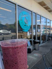 Mixed Berry smootie from Odd Duck in downtown Wichita Falls.