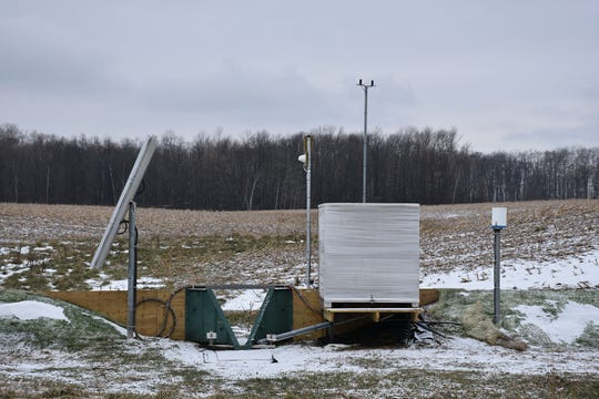 The surface water quality monitoring station installed.