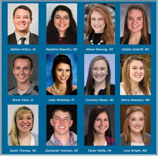 Four Wisconsin youth are among the twelve semifinalists chosen to attend the 2019 National Holstein Convention in Appleton this summer. Competing for DJM finalist honors are Allison Breunig, Kalista Hodorff, Courtney Moser and Zachariah Tolzman.