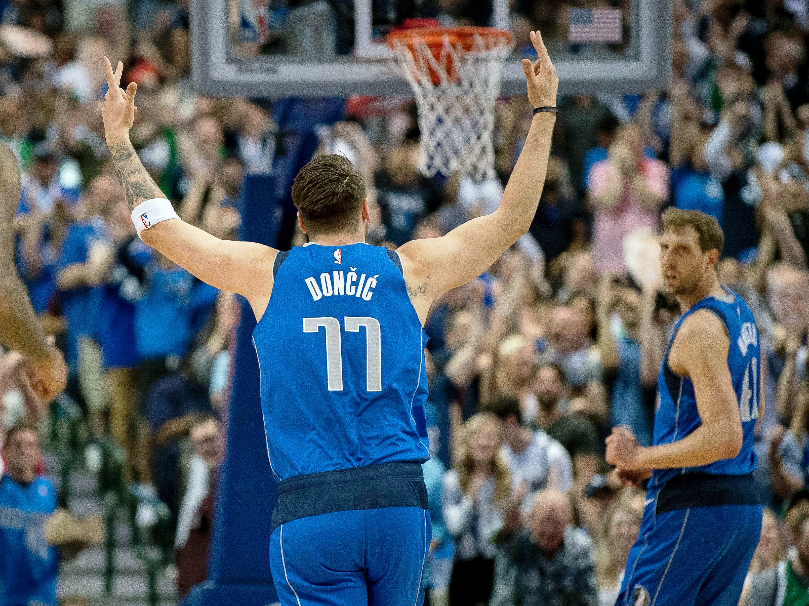123. Luka Doncic, Mavericks (April 9):21 points, 16 rebounds, 11 assists in 120-109 win over Suns.