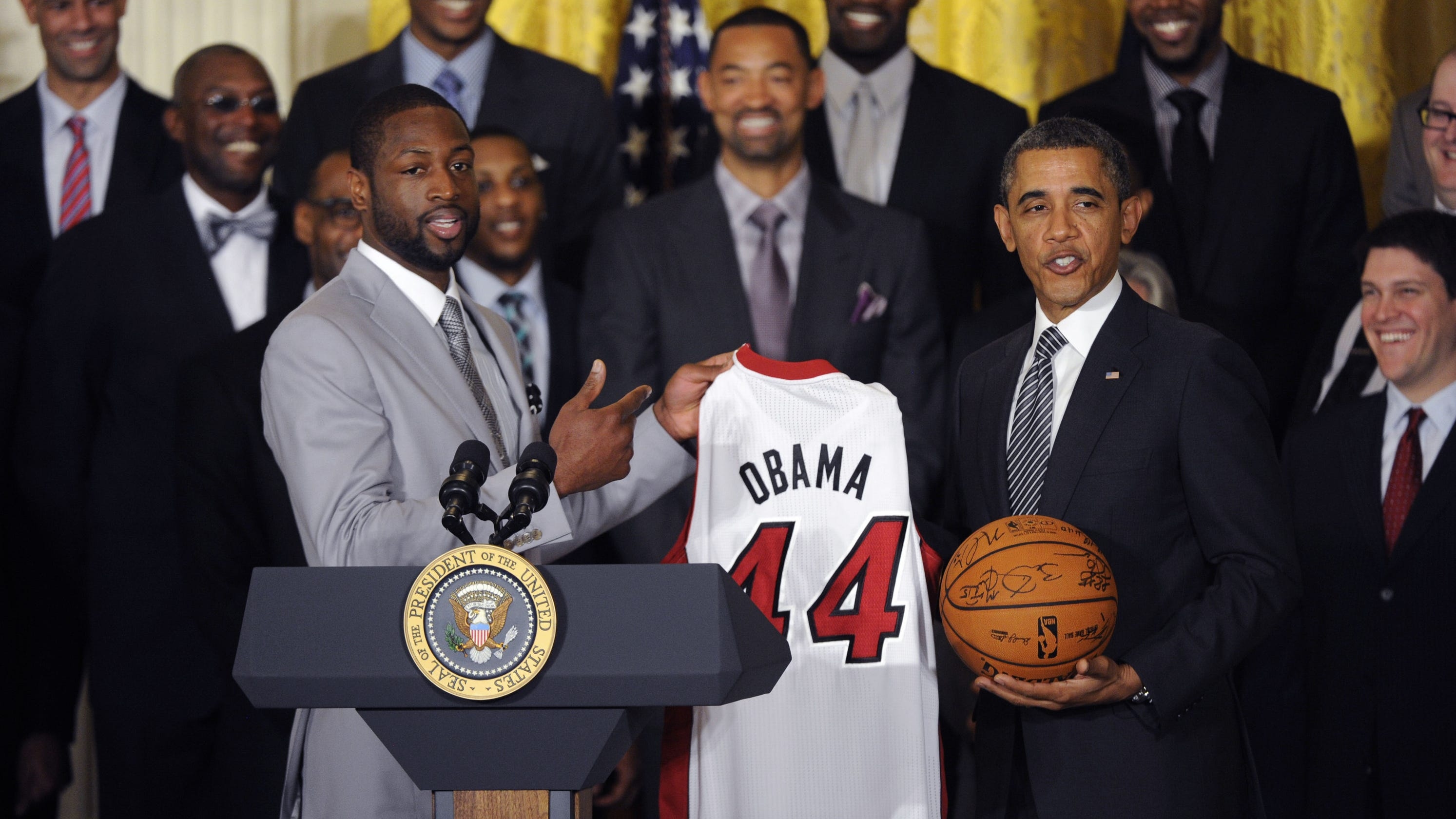 Dwyane Wade honored by former President Barack Obama