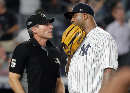 Umpire Angel Hernandez drew the ire of Yankees pitcher CC Sabathia during last year's AL division series, when three of his calls were overturned by replay.