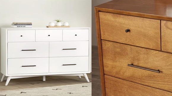 These dressers are understated and will blend well with virtually any decor style.