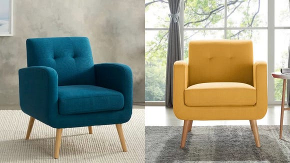 These chairs give off some serious Mad Men vibes in a variety of modern and muted colors.