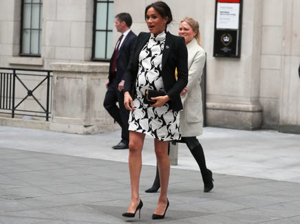 """Who is ready to walk out and stand before the world and put that face on, you know, a day after you've had a baby?"" Winfrey said of Meghan's plan not to trot her newborn out for photos within hours of giving birth."