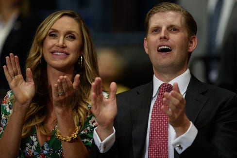 Lara Trump is expecting her second child with husband Eric Trump.