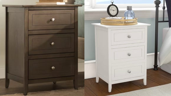 This basic nightstand would fit well in a spare room.
