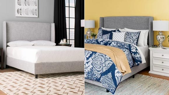 This fabric-covered panel bed comes in 20 different color and fabric options to fit any style.