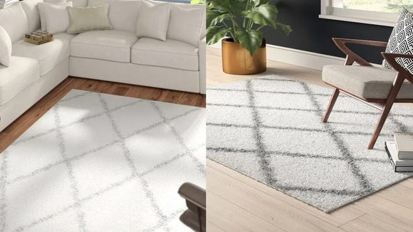 Shag rugs aren't just relics of the '70s, and we love the modern aesthetic of this one.
