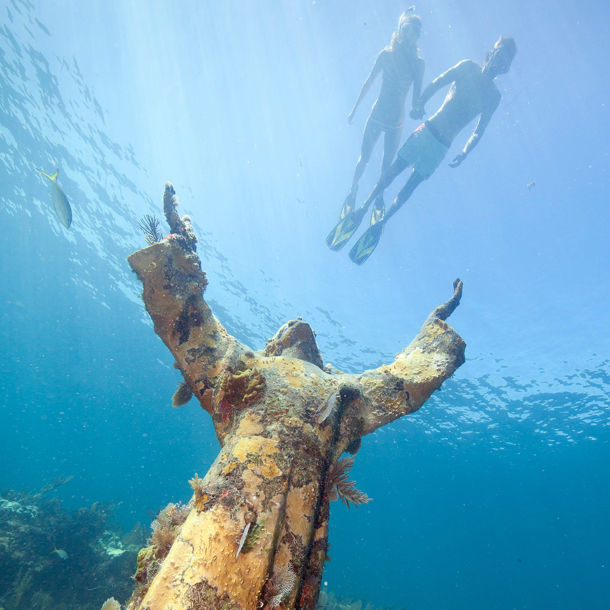 Situated about 25 feet under the sea in John Pennekamp Coral Reef State Park in Key Largo, Florida, Christ of the Deep – sometimes called Christ of the Abyss – is a bronze statue by Italian sculptor Guido Galletti.