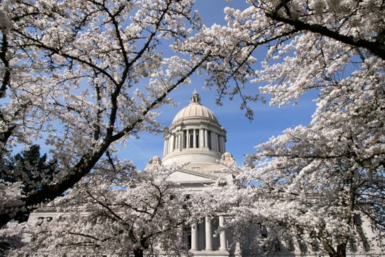 The state Capitol in Olympia, Washington.