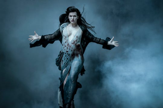 "Nimue the Blood Queen (Milla Jovovich) wants to lay waste to civilization in ""Hellboy."""