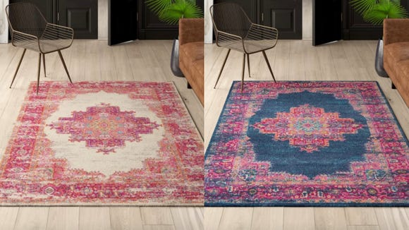 If you want a vintage vibe with a modern aesthetic, these colorful Dorset rugs are the perfect fit.