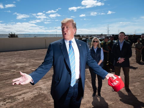 Image result for Trump claims huge Mexico win, critics say it's a mirage