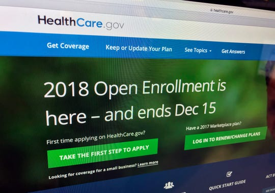 HealthCare.gov website on Dec. 15, 2017.