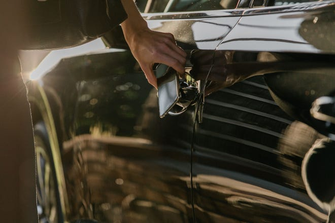 Hyundai's Digital Key allows drivers to unlock and start their car with a smartphone using near-field communication technology. It will debut on the 2020 Hyundai Sonata.