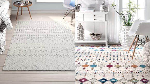 Pictured above are the Ivory and Off-White Multicolor options of this popular rug.
