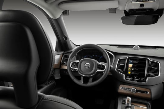 Volvo released this image to demonstrate what a vehicle interior with cameras to monitor the driver might look like.