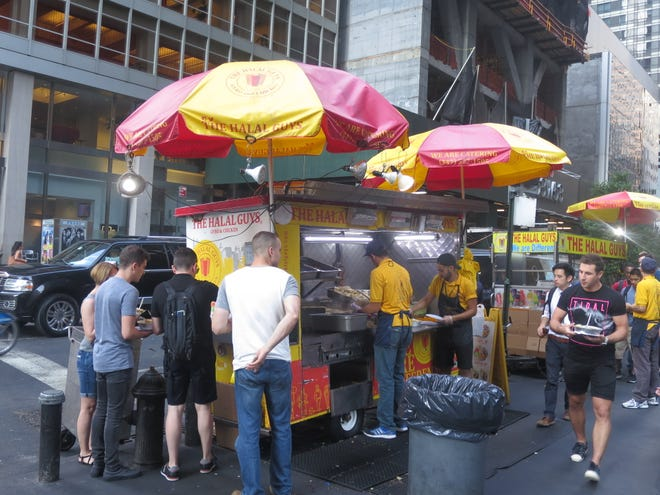Hot dog carts and random bodies were just part of the scene during Bruce Ferguson's trips to Manhattan.