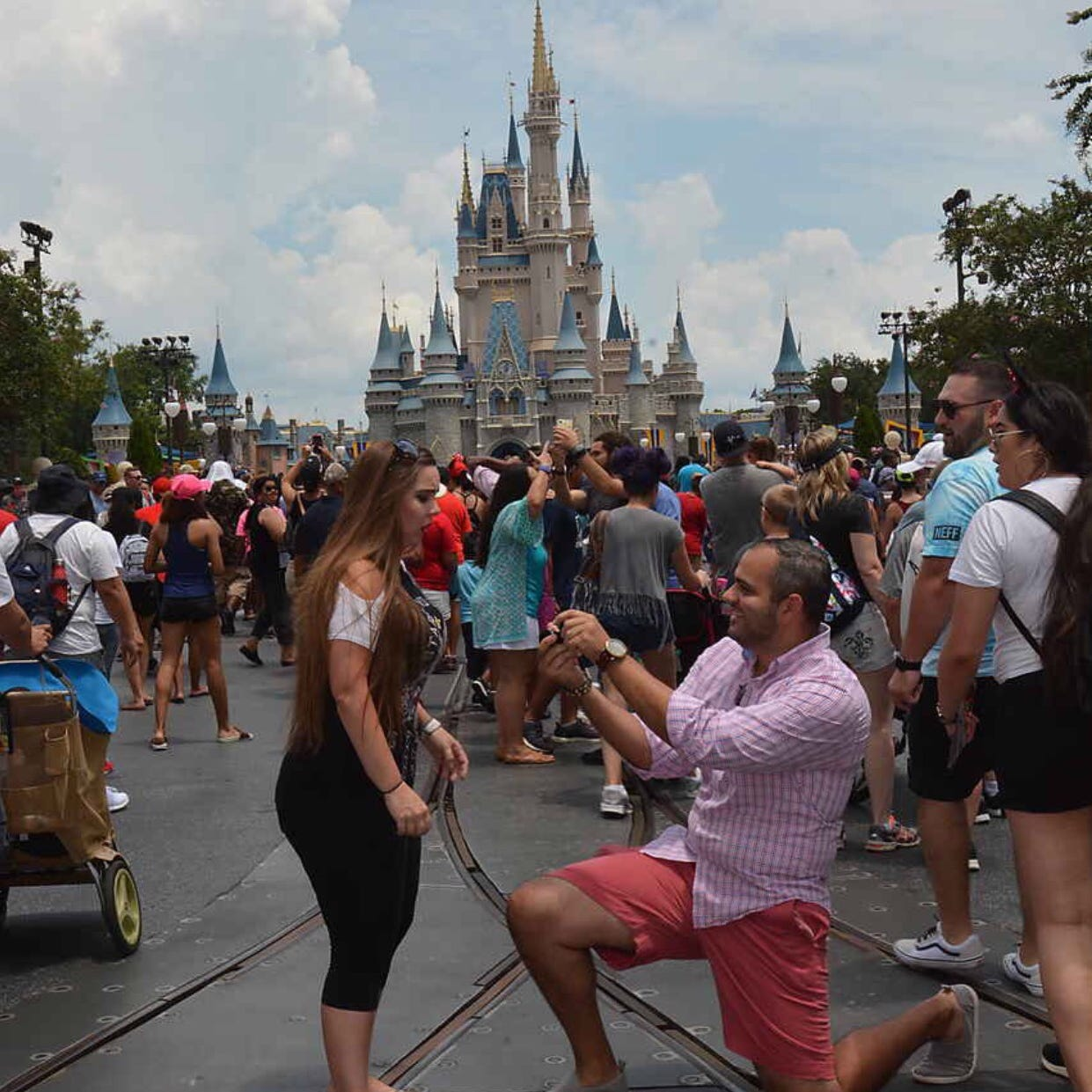Miguel Morrobel proposed to Abby at Disneyland.