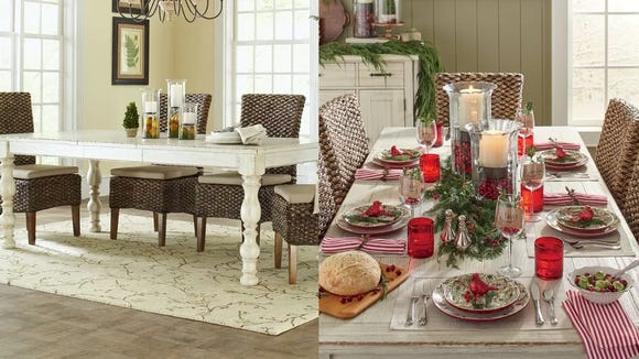 This expanding dining table is perfect if you're the one who hosts all the big family events.