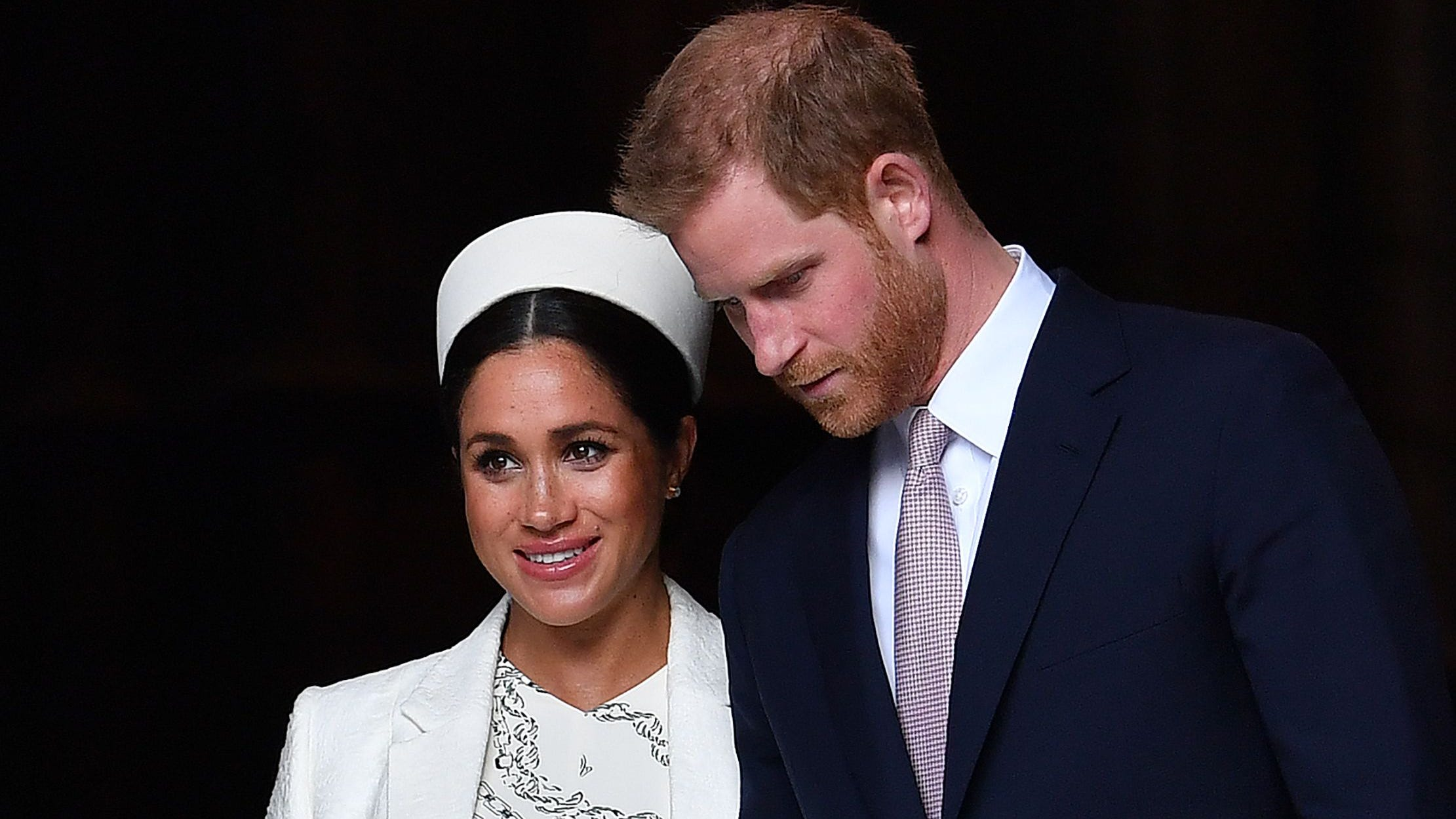 Prince Harry and Duchess Meghan of Sussex at a Commonwealth Day Service at Westminster Abbey on March 11, 2019.