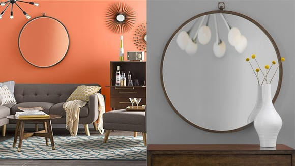 This simple mirror would make a big statement in any room.