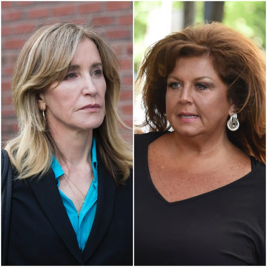 """""""Dance Moms"""" star Abby Lee Miller, right, offered advice about coping with life in prison to actress Felicity Huffman following her announcement that she'll plead guilty in the college admissions scam case."""