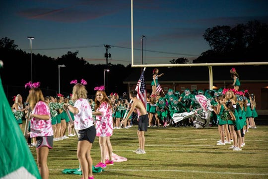 """Easley hosts Greenwood Friday, October 12, 2018, at W.A. """"Bill"""" Carr Stadium in Easley."""