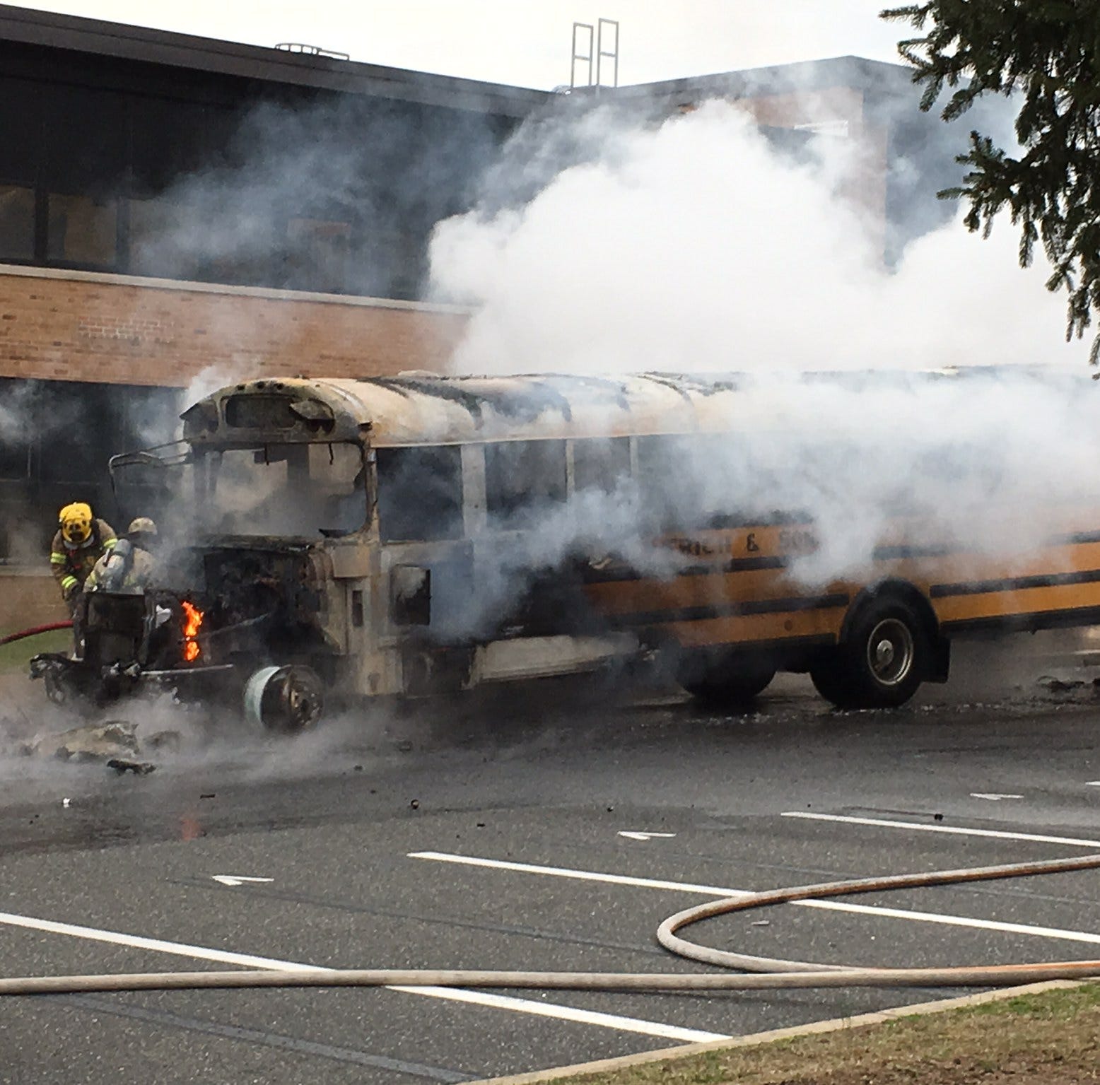Middletown High School North bus fire: Students, staff safe