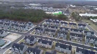 Take a Drone View of the commercial and residential development taking place in Lakewood Township
