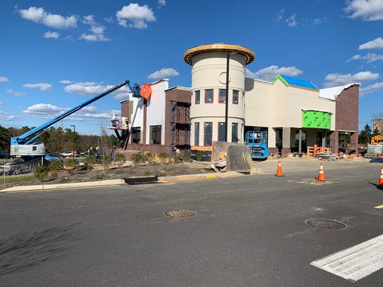 A building at The Avenue Shoppes along New Hampshire Avenue is nearing completion.