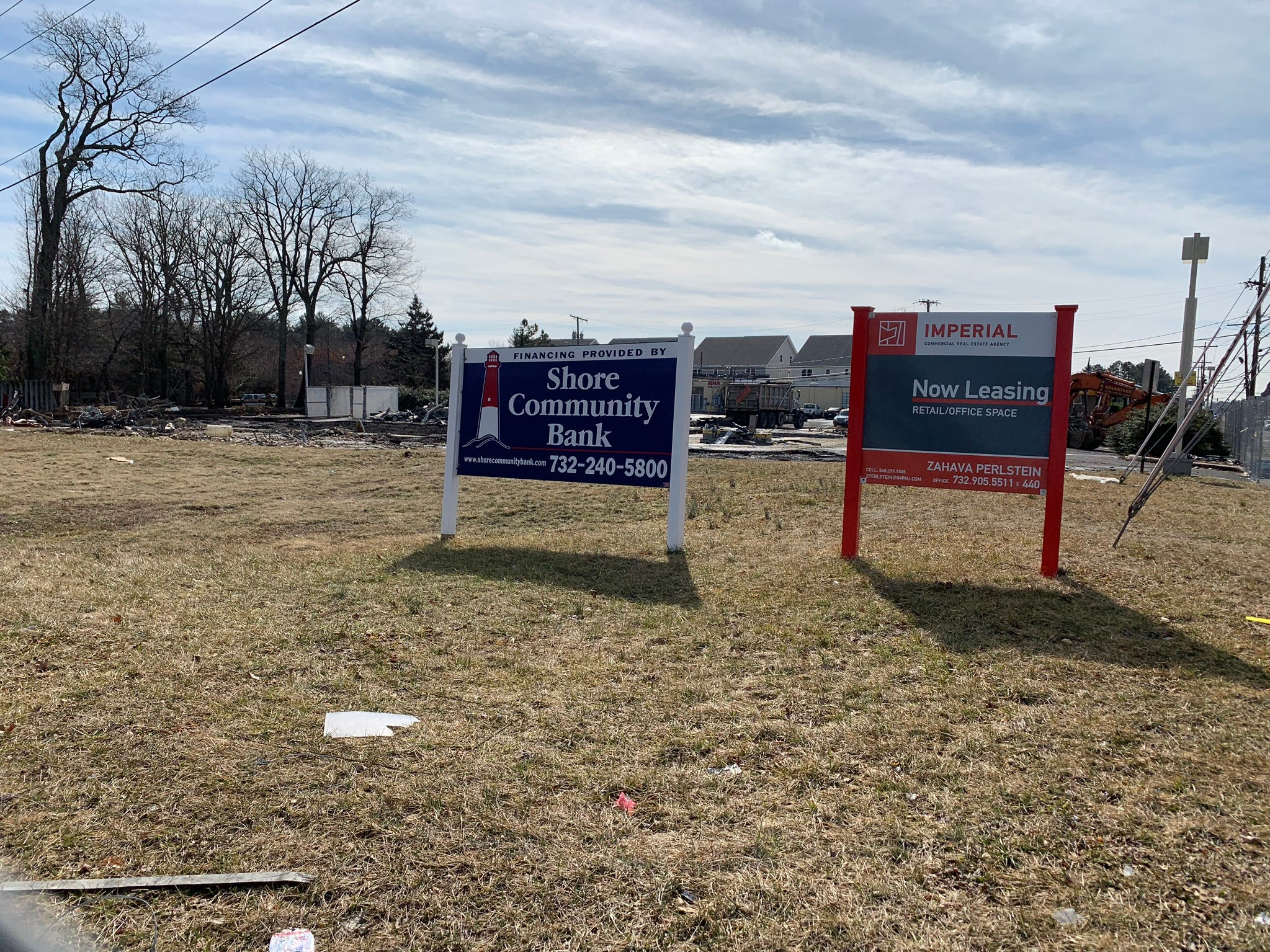 This property at the corner of Route 9 and Chestnut Street in Lakewood will become a shopping center with retail stores and offices.
