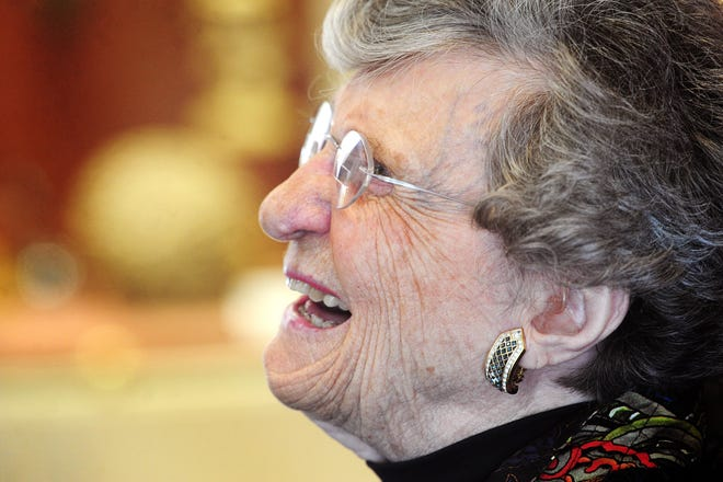 Dr. Virginia Boyd Connally, Abilene's first female physician, is shown appreciation by dozens of people wanting to wish her happy birthday during a reception for her 101st birthday Dec. 4, 2013, at Hardin-Simmons University.
