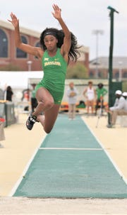 Bangs' native Alex Madlock has blossomed as a standout triple jumper her sophomore year at Baylor.