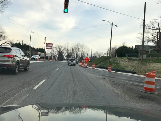 Paving at I-40 and Hendersonville Road at exit 50 should take place in the next week or two, temperatures permitting. The project was supposed to wrap up last October but was delayed.