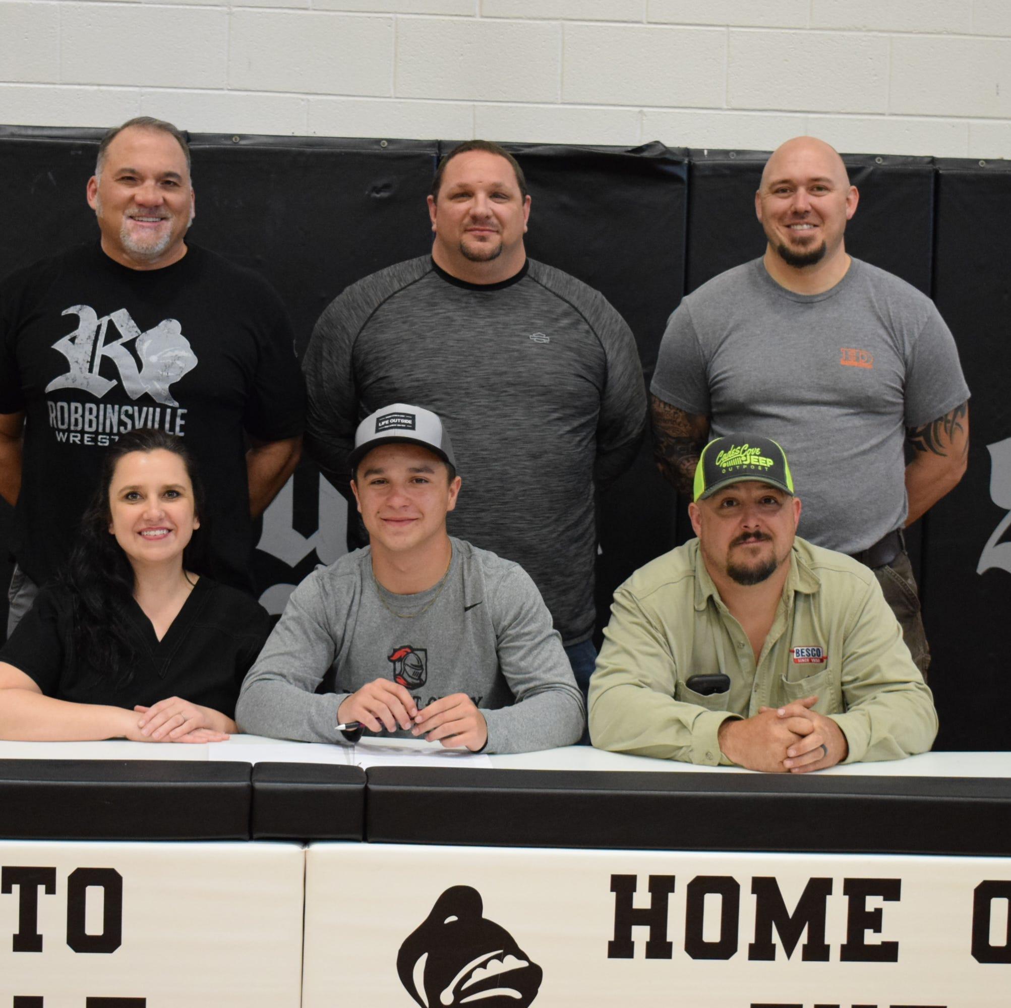 Robbinsville wrestler signs with college program