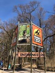 The Binder Park Zoo entrance.