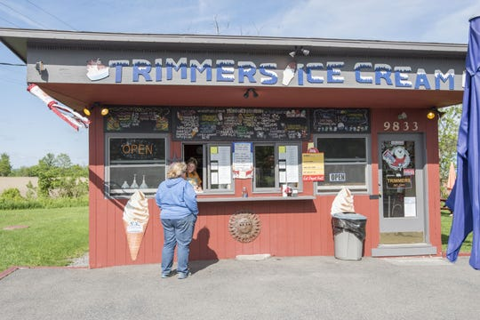 Trimmer's Ice Cream, pictured in 2015, is located at 9833 State Route 96 in Trumansburg.