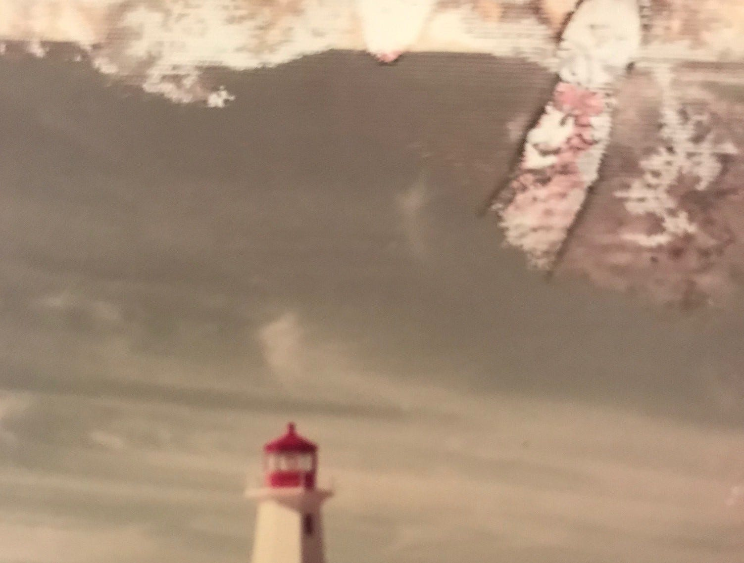 One of the photos in a photo album found in Melbourne, Florida, in 2011: A shot of Peggy's Point Lighthouse, also known as Peggy's Cove Lighthouse, at Peggy's Cove, Nova Scotia.