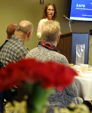 Tammy Crabtree of Ohio Heartland Community Action Commission, a United Way partner, speaks during the annual recognition breakfast Thursday morning at Trillium Event Center.