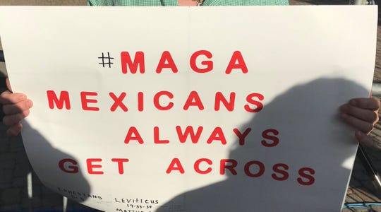A sign at Julian Castro's rally in San Antonio on April 10, 2019.