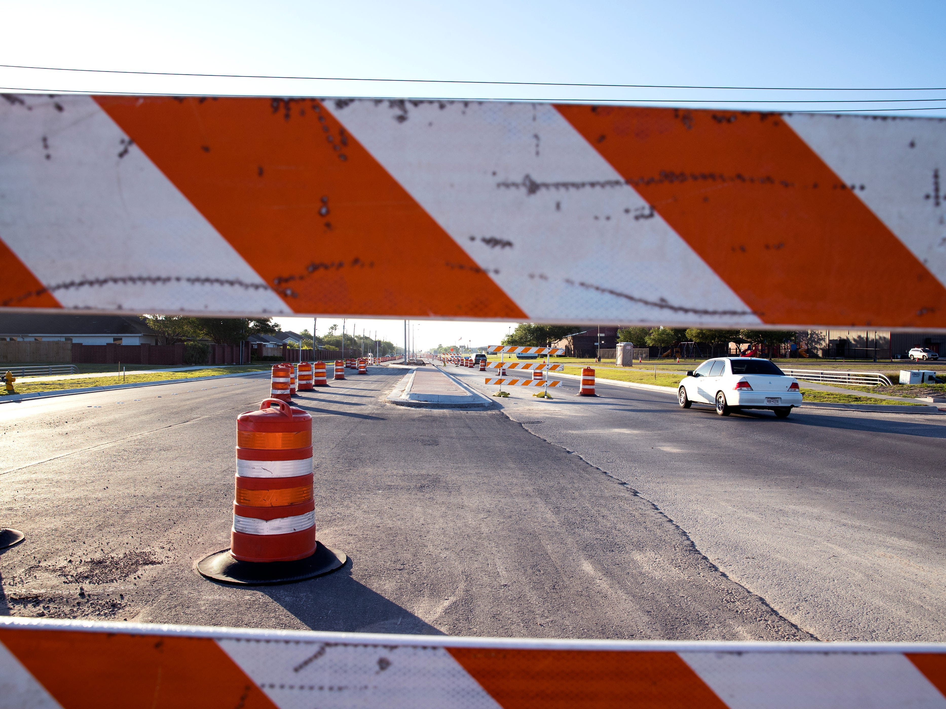 Construction on the Yorktown Bond 2014 project continues on April 10, 2019. The project is scheduled to be complete by the end of April after nearly two years  of work. The original completion date was set for October 2018.