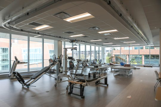 UC Gardner Neurological Institute's Rehabilitation Suite features private and open treatment areas, weight and balance training, a walking track and many more therapies.