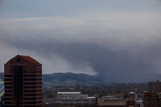 A fire in Wilder filled the Licking River valley with smoke on Thursday.