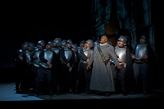 "Cincinnati Opera artistic advisor Morris Robinson will appear in the role of Ramfis in the company's 2020 production of ""Aida."" Here, he is seen as Ferrando in Cincinnati Opera's 2015 production of ""Il Trovatore."" This summer, he' will sing the role of Porgy in ""Porgy and Bess."""